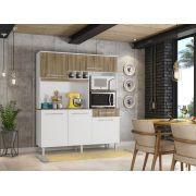Kit Cozinha Classic 1600 Branco Castanho Argel - Madine Móveis