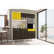Kit Cozinha Classic 1600 Elmo Carvalho Amarelo - Madine Móveis