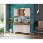 Kit de Cozinha Atenas 8 portas Branco Elmo Montana - Madine Móveis