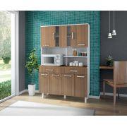 Kit de Cozinha Atenas 8 portas Branco Montana - Madine Móveis
