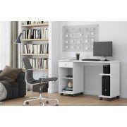Mesa De Computador Million Branco - Patrimar Móveis