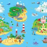 Tapete Baby Play Mat Médio Safety 1st Magical Island