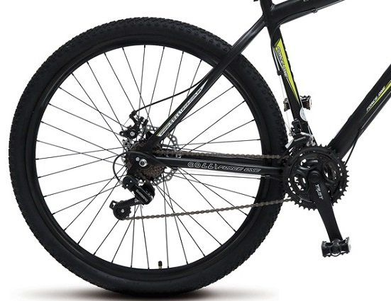 60a00027e Bicicleta Colli MTB Force One Preto Kit Shimano 21 Marchas Aro 29 Aero  Freios a Disco