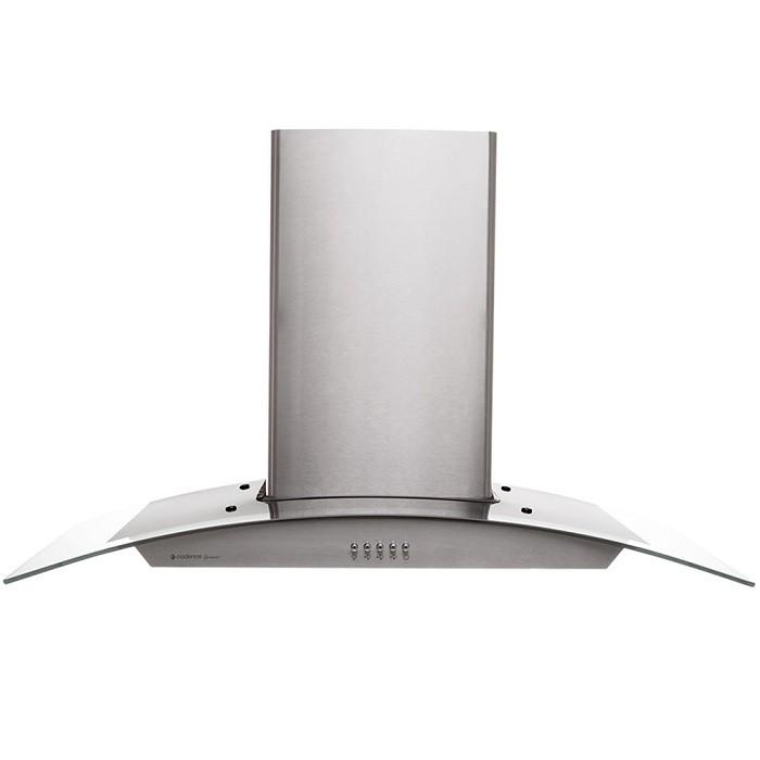 Coifa de Parede Gourmet Inox e Vidro 90Cm 3 Velocidades Exaustor e Depurador 127V Cadence