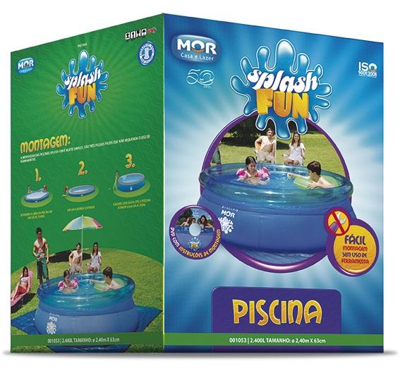 Piscina Splash Fun 2400 Litros Ø2,40Mx63Cm - Mor