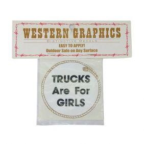Adesivo Western Importado Trucks Are For Girls