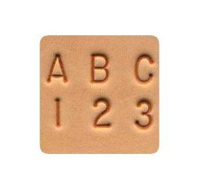 Alfabeto com Números para Entalhar Couro Tandy Leather 8137-00 Importado