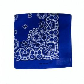 Bandana em Tecido com Estampa Floral Azul Escuro