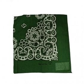 Bandana em Tecido com Estampa Floral Verde