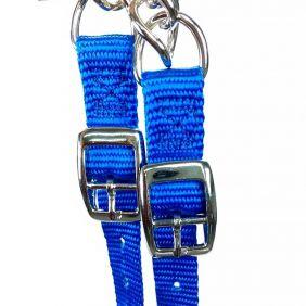 Barbela Weaver Leather em Nylon com Corrente Torcida - Diversas Cores (Importada)
