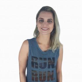 Blusa Zenz Western Run com Estampa Degradê Regata