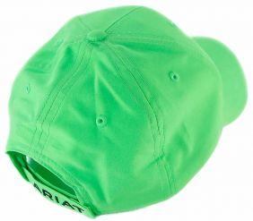 Boné Ariat Importado com Regulagem Velcro em Tecido Fluorescente Verde Claro