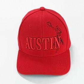Boné Austin Western Tradicional Country Vermelho Regulagem