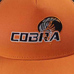 Boné Fast Back Cobra em Tela Importado Laranja Preto