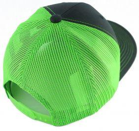 Boné Fast Back com Regulagem Snapback em Tela Importado Verde e Cinza
