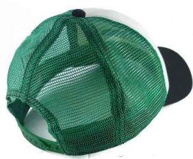 Boné Fast Back Masculino em Tela com Regulagem Snapback Importado Verde Branco Preto