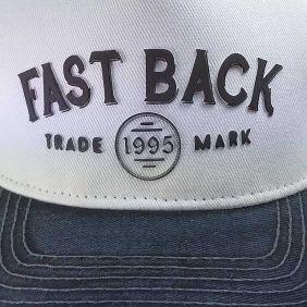 Boné Fast Back Snapback Tradicional Branco Preto Amarelo
