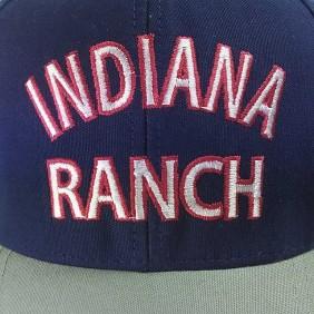 Boné Indiana Ranch Infantil Regulagem Snapback Cinza Azul