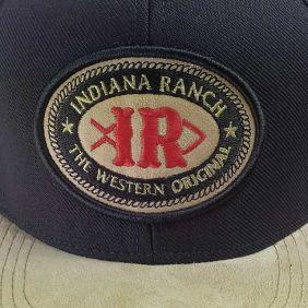 Boné Indiana Ranch Masculino Aba Reta com Veludo e Regulagem