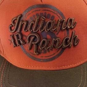 Boné Indiana Ranch Masculino Velcro Laranja Marrom