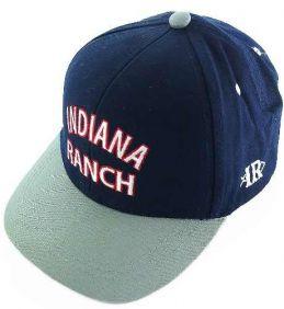 Boné Indiana Ranch Tradicional com Regulagem Azul e Cinza