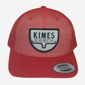Bone Kimes Ranch Aba Curva Regulagem Snapback Tela Vermelho