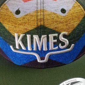 Boné Kimes Ranch Estampa Copa e Aba Curva Snapback Verde