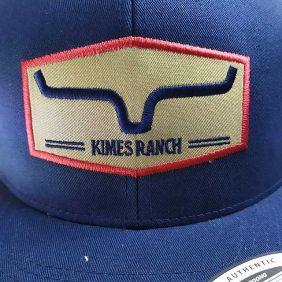 Boné Kimes Ranch Estampa Kimes Aba Reta Snapback Azul e Bege