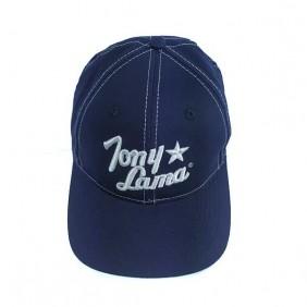 Boné Tony Lama Ajustável Velcro Importado Azul Marinho