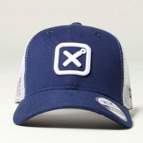 Boné TXC Aba Curva Copa Alta Tela Branco Azul Logo Bordado