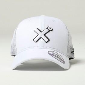 Boné TXC Aba Curva Copa Alta Tela Branco Logo Bordado