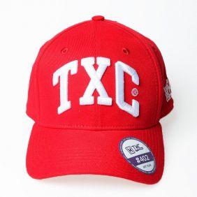 Boné TXC Aba Curva Vermelho Bordado em Relevo