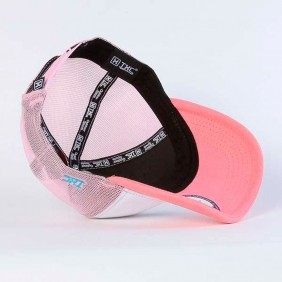 Boné TXC Brand Feminino Rosa Branco Telado e Estampa Relevo