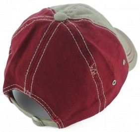 Boné Weaver Leather Importado Strapback Tradicional Vermelho