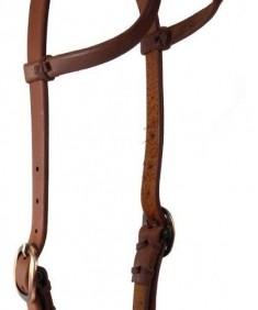 Cabeçada de Cavalo 2 Orelhas Marrom Escuro Top Equine