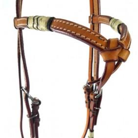 Cabeçada para Cavalo Couro Testeira Nó Detalhes Inverno