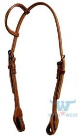 Cabeçada Top Equine de 1 Orelha em Couro Duplo Costurado