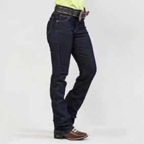 Calça Jeans Feminina Dock's Western Combate Amaciada
