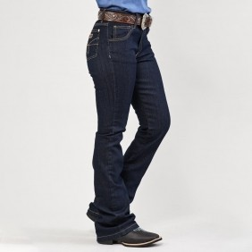 Calça Jeans Feminina Dock's Western Flare Hotpant Amaciada