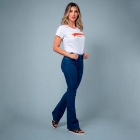 Calça Jeans Feminina Wrangler com Elastano Flare Sally