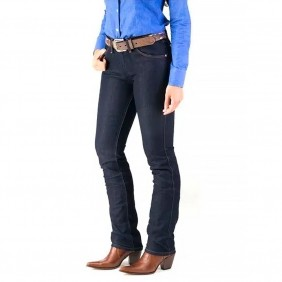 Calça Jeans Feminina Wrangler Cowgirl Cut Escura Low Rise