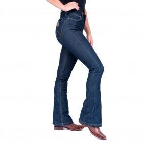 Calça Jeans Feminina Wrangler Flare com Elastano
