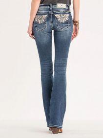 Calça Jeans Importada Feminina Miss Me With Feather Design