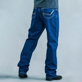 Calça Jeans Masculina Dock's Western SB Black Bordada