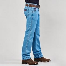 Calça Jeans Masculina Dock's Western Tradicional Delave