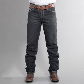 Calça Jeans Masculina Dock's Western White Bordada Jeans Black