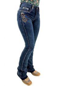Calça Jeans Tassa Feminina Boot Cut Sky Blue