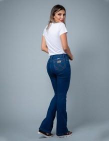 Calça Jeans Wrangler Feminina com Elastano Flare Sally