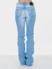 Calça Jeans Zenz Western Feminina Honey  Bordados e Aplicação