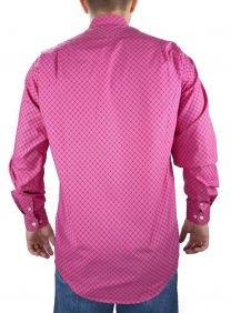 Camisa Estampada Fast Back Manga Longa Masculina Rosa